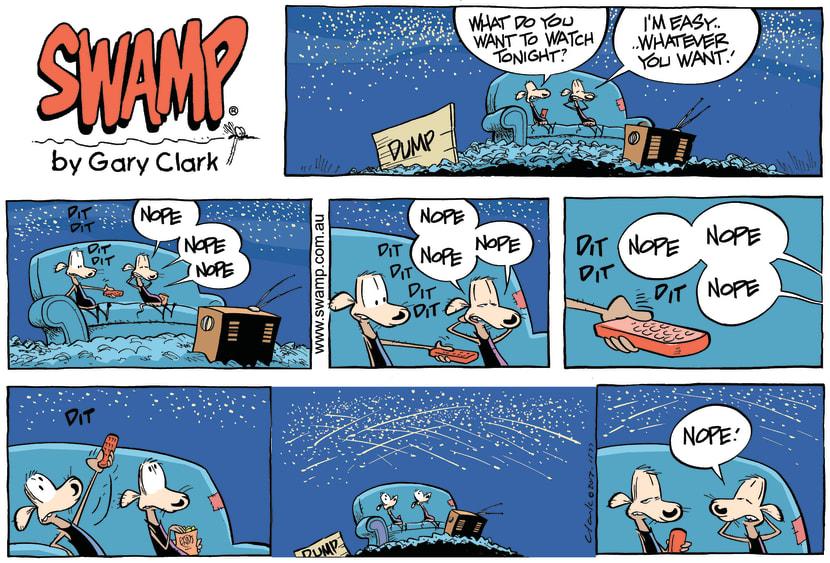Swamp Cartoon - I'm Easy ComicNovember 10, 2013