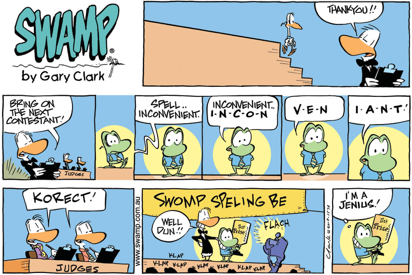 Swamp Cartoon - Spelling Contest ComicNovember 17, 2013