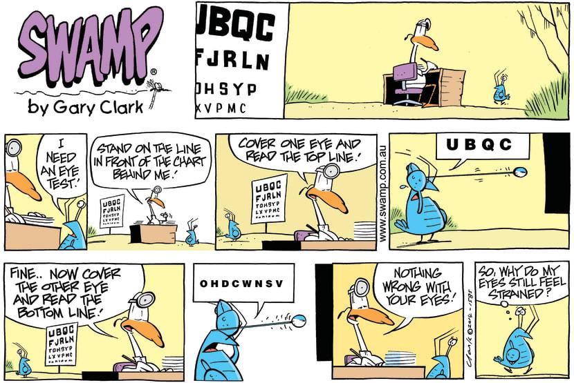 Swamp Cartoon - Eye Test ComicJanuary 12, 2014