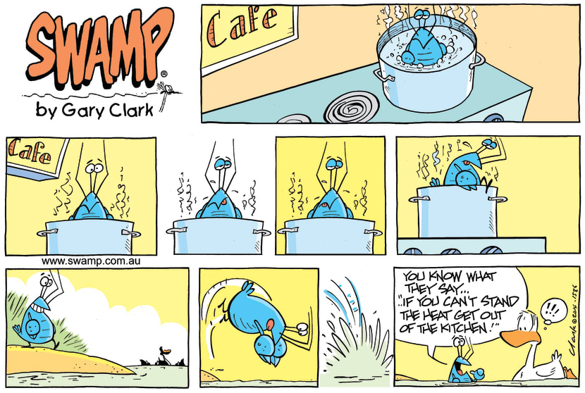Swamp Cartoon - Simmering Away ComicJanuary 19, 2014