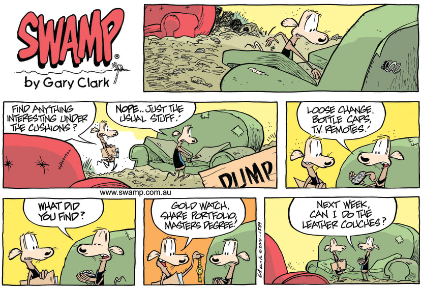 Swamp Cartoon - Hidden Treasure ComicFebruary 9, 2014