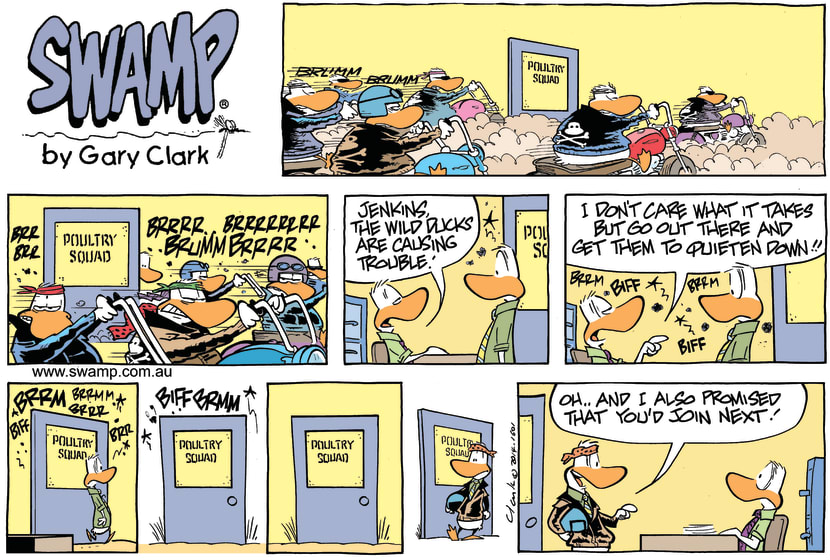 Swamp Cartoon - Noisy Wild Ducks ComicMay 25, 2014