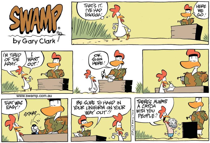 Swamp Cartoon - Army Sergeant ComicJune 8, 2014