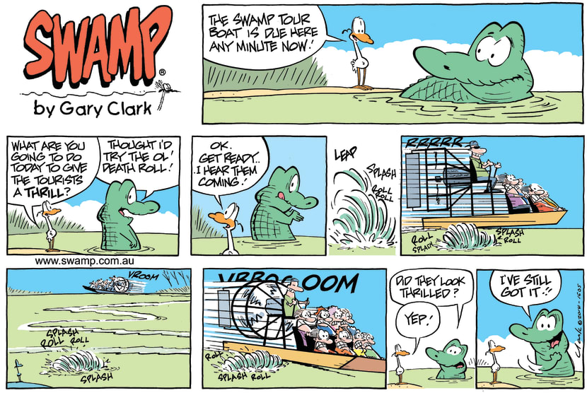 Swamp Cartoon - Old Man Croc Airboat ComicJune 15, 2014