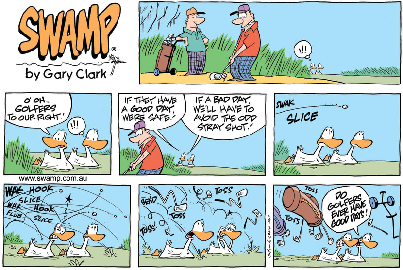 Swamp Cartoon - Swamp Golf Day ComicJune 22, 2014