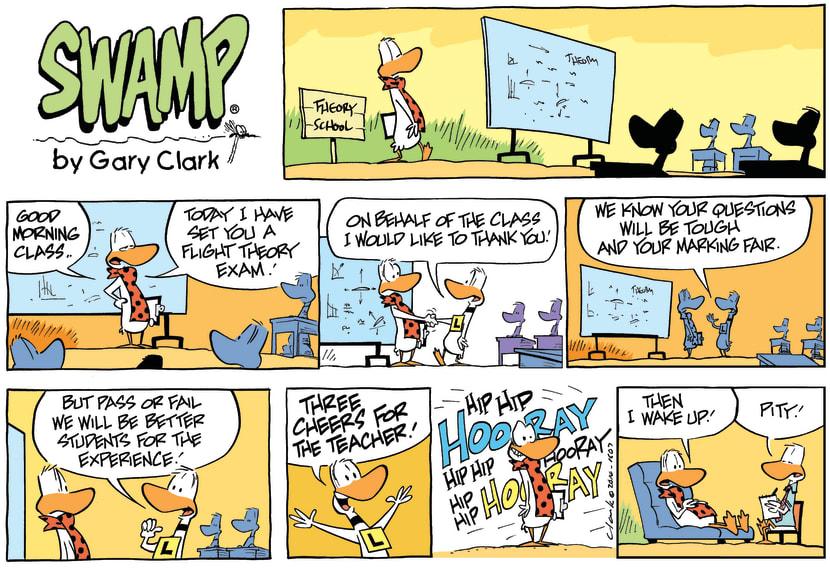 Swamp Cartoon - Flight Instructor Dream ComicJuly 20, 2014