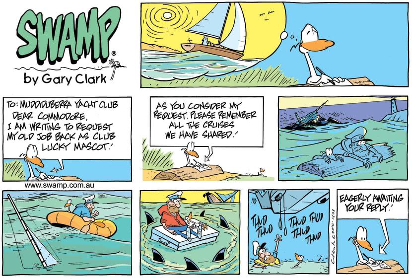 Swamp Cartoon - Nit Picker Bird ComicJuly 27, 2014