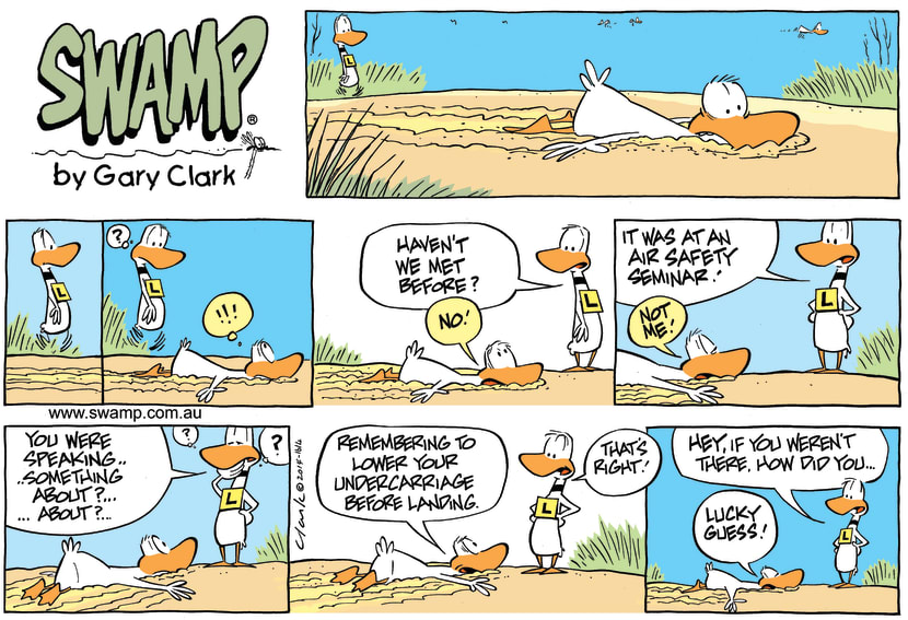 Swamp Cartoon - Ding Duck Under Carriage ComicSeptember 14, 2014