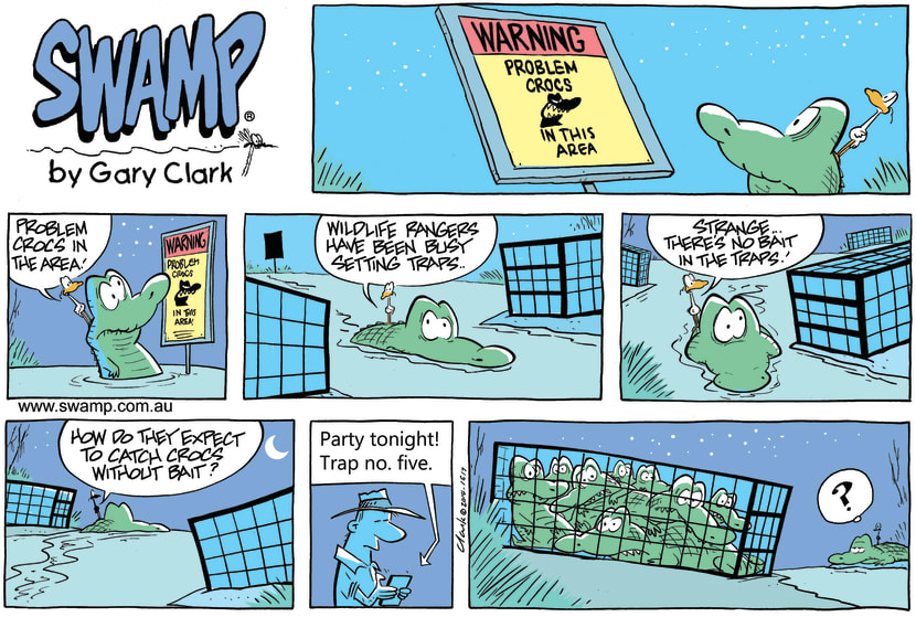 Swamp Cartoon - Old Man Croc Traps ComicOctober 5, 2014