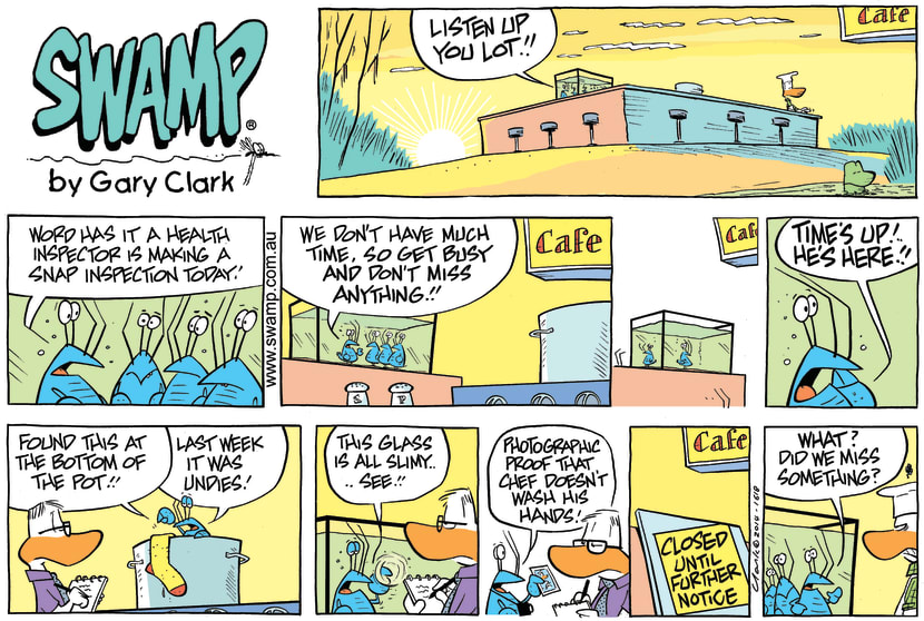 Swamp Cartoon - Bob Crayfish Inspector ComicNovember 30, 2014