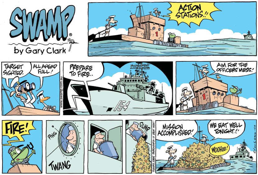 Swamp Cartoon - Swamp Rats Navy Ship ComicDecember 7, 2014