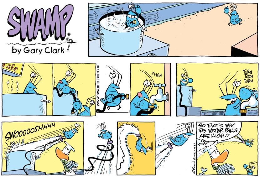 Swamp Cartoon - Bob Crayfish Jet Pack ComicJanuary 4, 2015