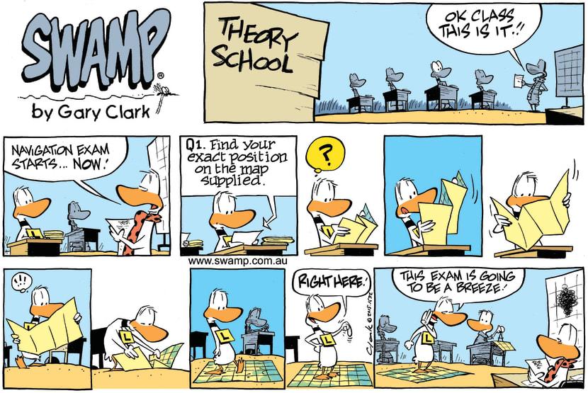 Swamp Cartoon - Ding Duck Navigation Exam ComicMarch 22, 2015