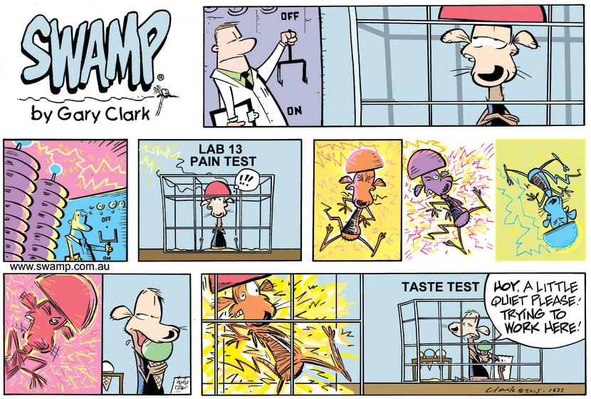 Swamp Cartoon - Lab Rat Testing ComicApril 12, 2015