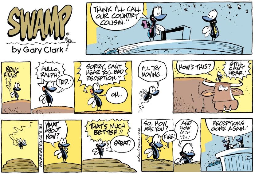 Swamp Cartoon - Flies Country Cousin ComicMay 10, 2015
