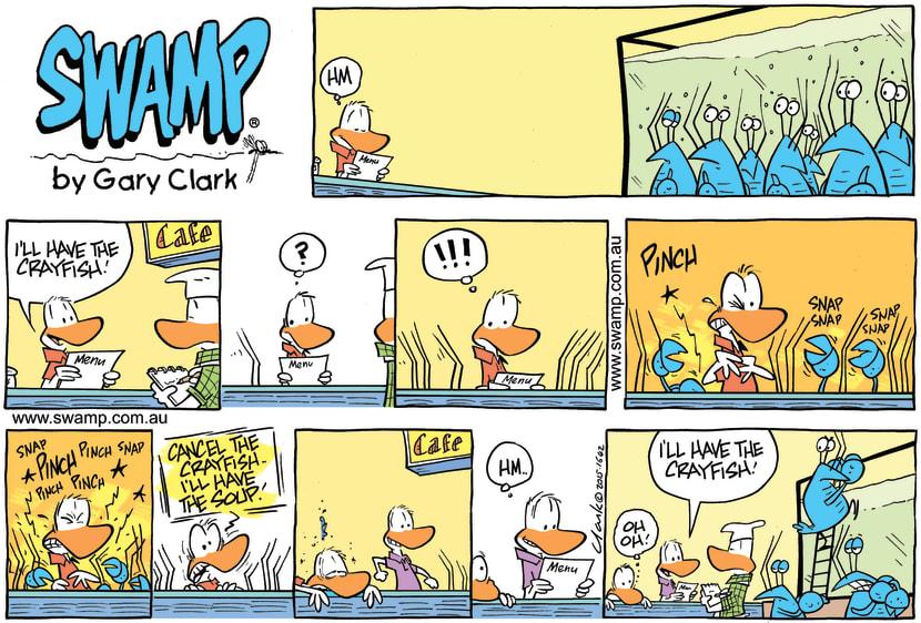 Swamp Cartoon - Crayfish Pinch Patrons ComicJune 7, 2015