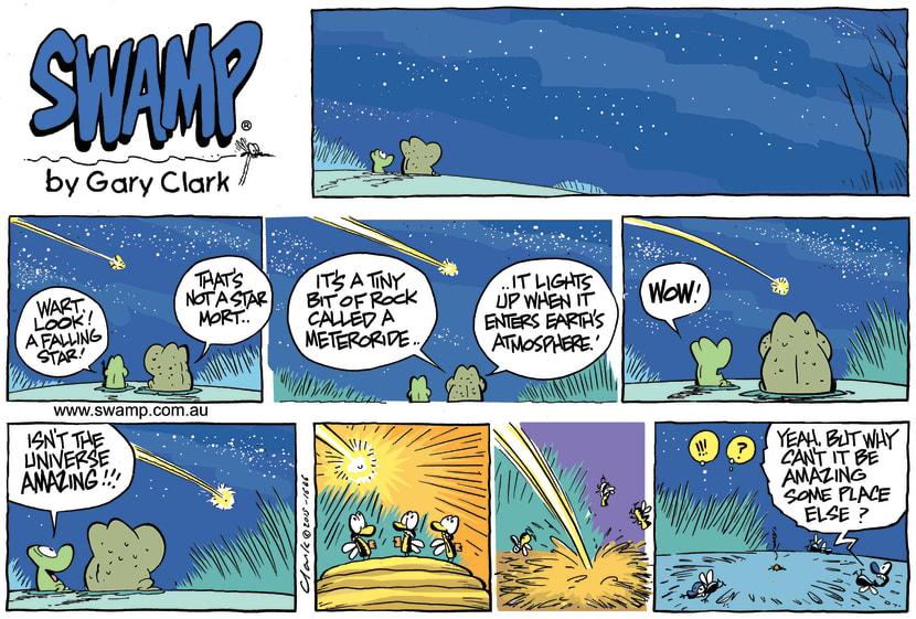 Swamp Cartoon - Wart Frog Stars ComicJuly 5, 2015