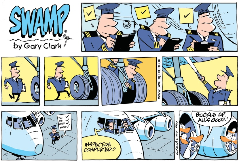 Swamp Cartoon - Pre-flight Inspection ComicJuly 26, 2015
