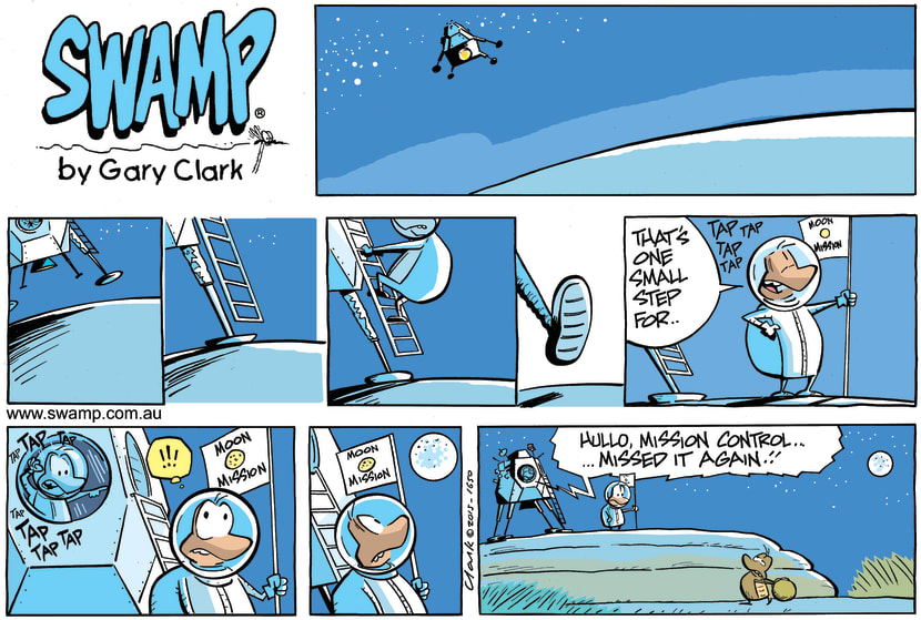 Swamp Cartoon - Dung Beetle Moon Landing ComicAugust 2, 2015