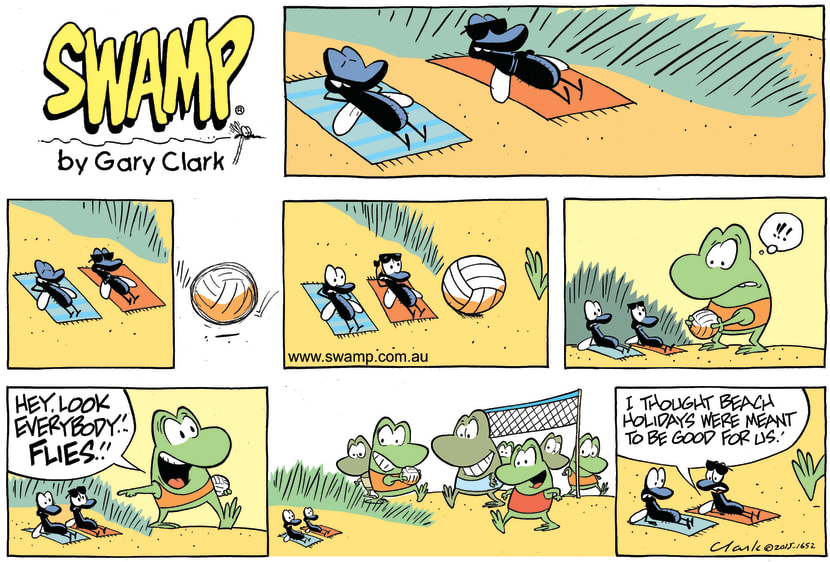 Swamp Cartoon - Swamp Frogs Find Flies ComicAugust 16, 2015