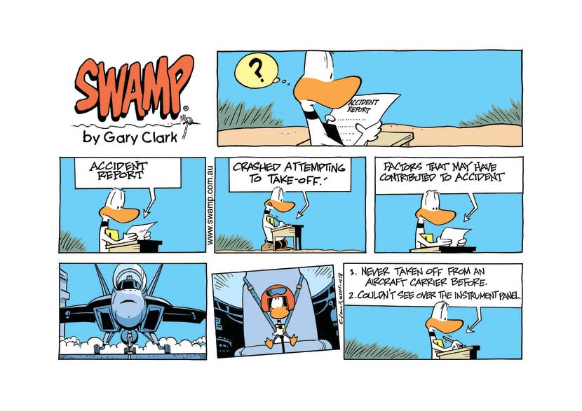 Swamp Cartoon - Ding Duck Jet Pilot ComicSeptember 27, 2015