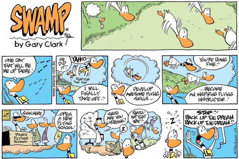 Swamp Cartoon - Ding Duck Dream ComicOctober 4, 2015