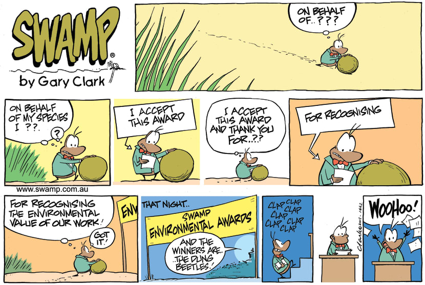Swamp Cartoon - Dung Beetle Speech ComicOctober 25, 2015