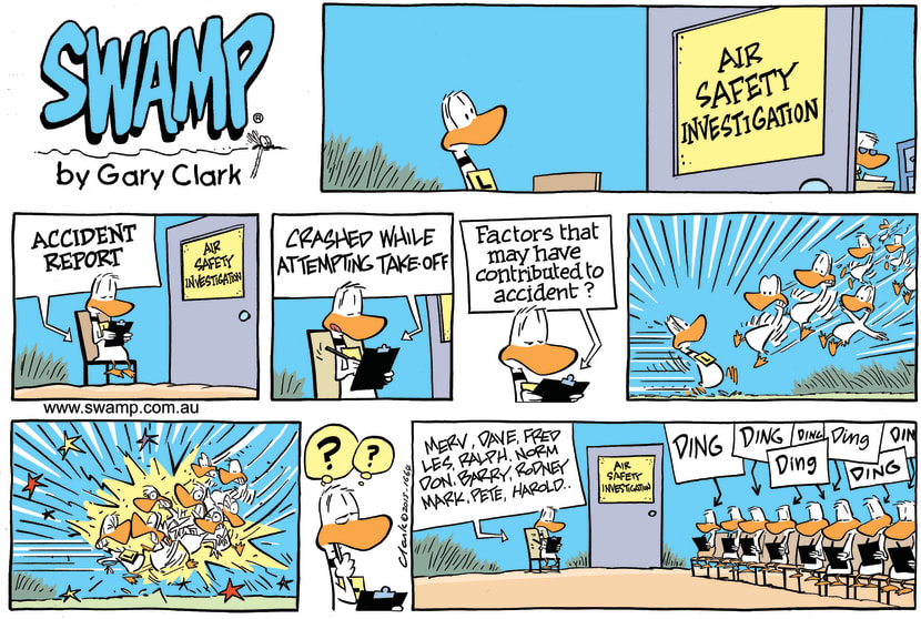 Swamp Cartoon - Ding Duck Accident Report ComicNovember 8, 2015