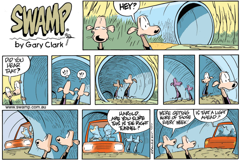 Swamp Cartoon - Swamp Rats Tunnel ComicNovember 29, 2015