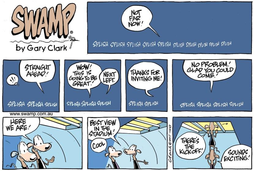 Swamp Cartoon - Swamp Rats Kick-off comicDecember 13, 2015
