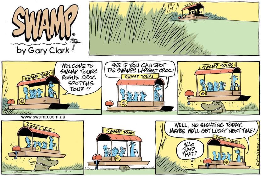 Swamp Cartoon - Rogue Croc Sighting ComicDecember 27, 2015