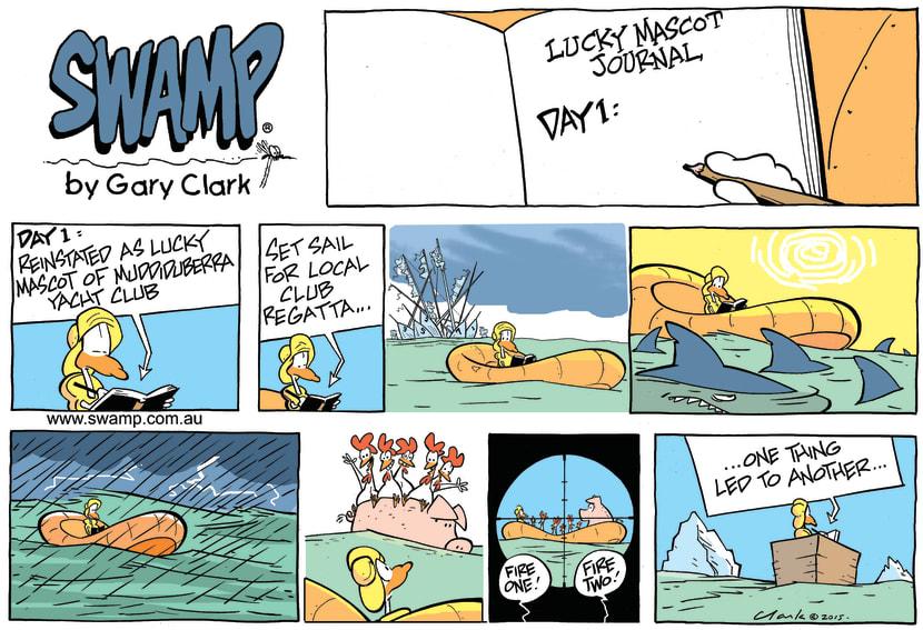 Swamp Cartoon - Lucky Mascot RegattaJanuary 10, 2016