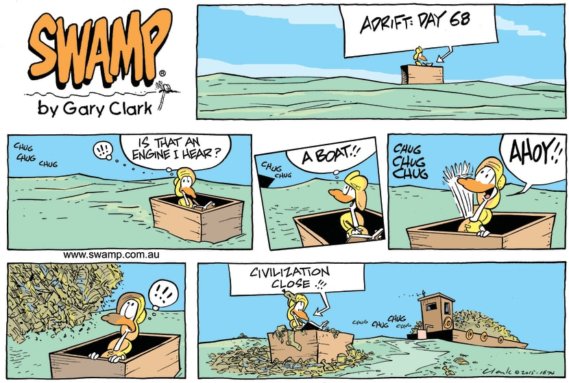 Swamp Cartoon - Lucky Mascot Civilisation ComicJanuary 17, 2016