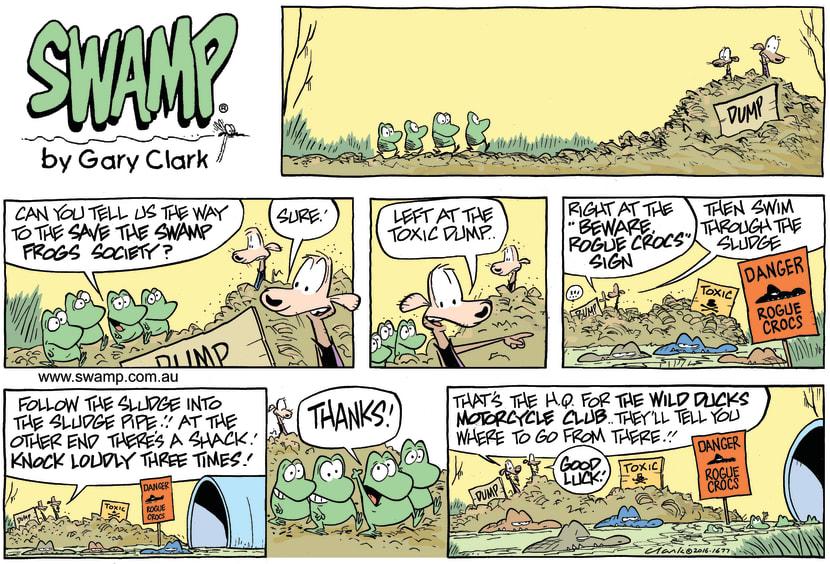 Swamp Cartoon - Swamp Frog Society ComicFebruary 7, 2016