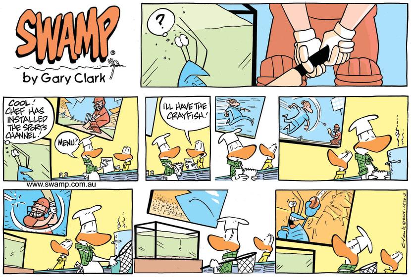 Swamp Cartoon - Bob Crayfish Cricket ComicFebruary 14, 2016