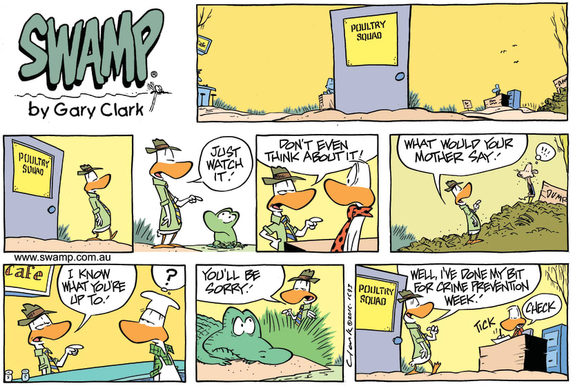 Swamp Cartoon - Poultry Squad Crime ComicMay 29, 2016