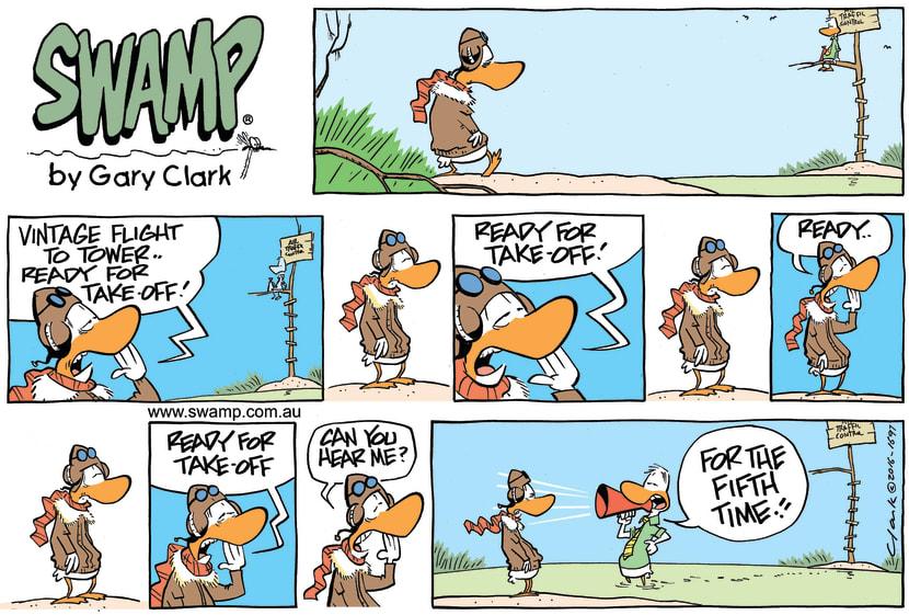 Swamp Cartoon - Vintage Flight ComicJune 19, 2016