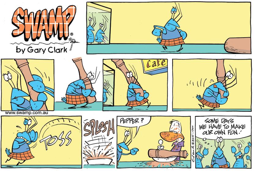 Swamp Cartoon - Bob Crayfish Pepper ComicJuly 10, 2016