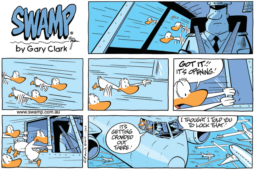 Swamp Cartoon - Swamp Ducks Late Pax ComicJuly 31, 2016