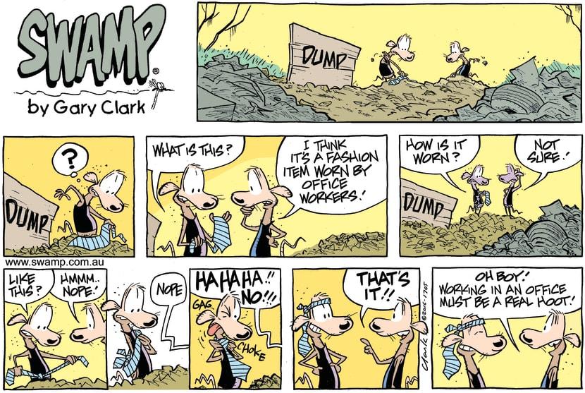 Swamp Cartoon - Swamp Rats Tie ComicAugust 14, 2016