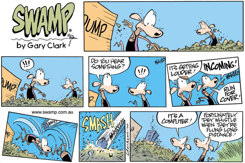 Swamp Cartoon - Swamp Rats Computer ComicSeptember 18, 2016