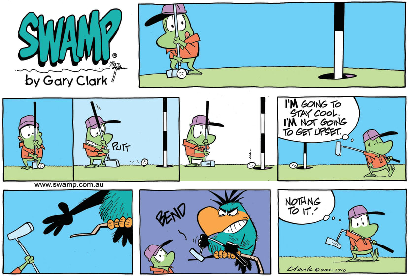 Swamp Cartoon - Mort Frog Golf ComicSeptember 25, 2016