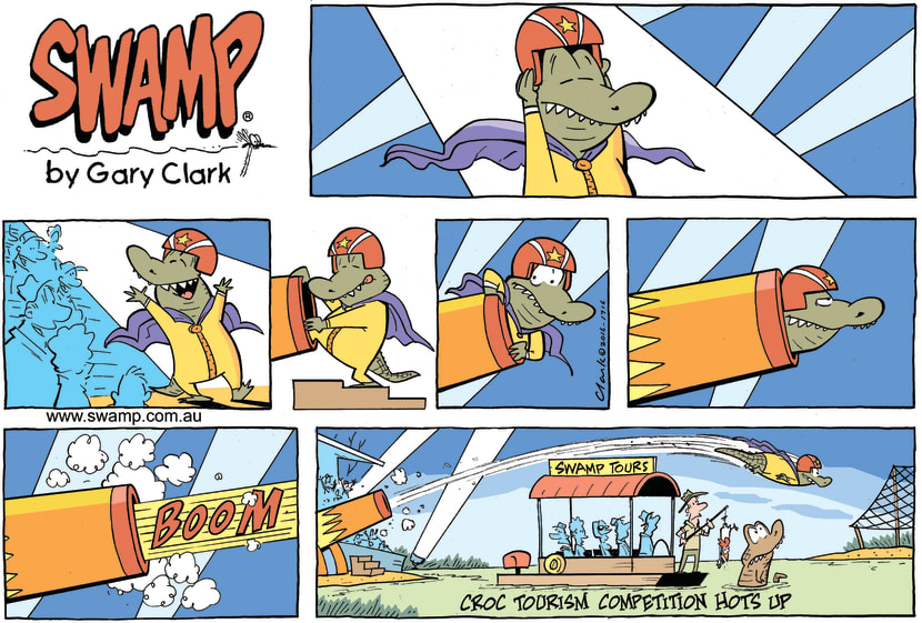 Swamp Cartoon - Tour Boat Competition ComicNovember 6, 2016