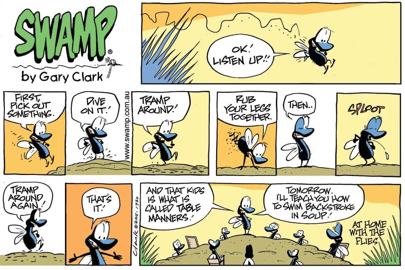 Swamp Cartoon - Flies Table Manners ComicDecember 4, 2016