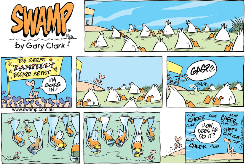 Swamp Cartoon - Worm Escape ComicDecember 11, 2016