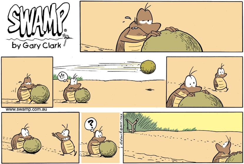 Swamp Cartoon - Dung Beetle Fast ComicDecember 18, 2016