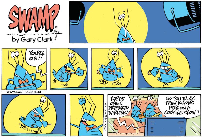 Swamp Cartoon - Bob Crayfish TV Show ComicJanuary 8, 2017