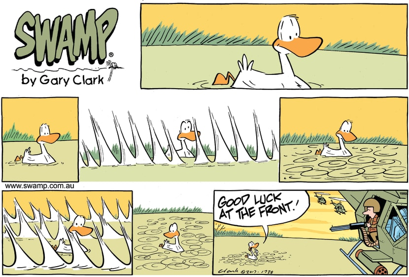 Swamp Cartoon - Swamp Ducks Safe ComicApril 16, 2017