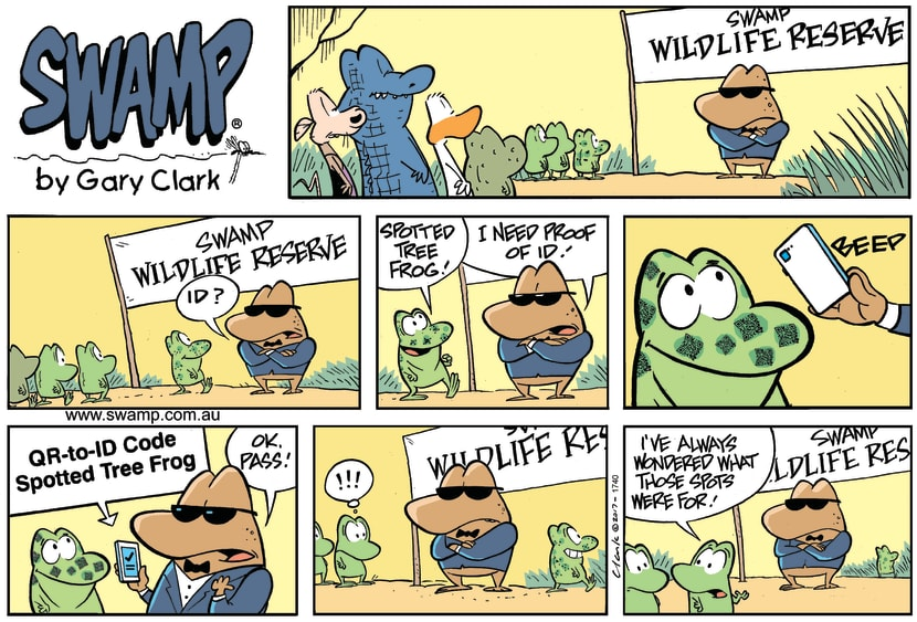 Swamp Cartoon - Spotted Frog ID ComicApril 30, 2017