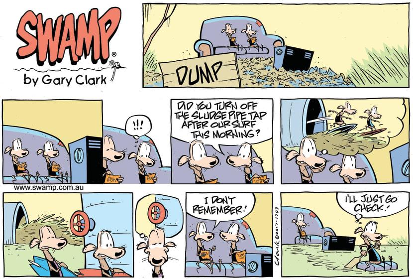 Swamp Cartoon - Chives Rat Sludge Pipe Open ComicMay 21, 2017